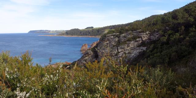 Photograph of coastal cliffs.