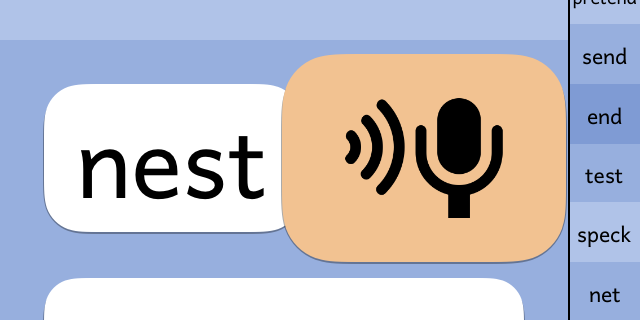 PBPhonics screenshot showing microphone button in action.