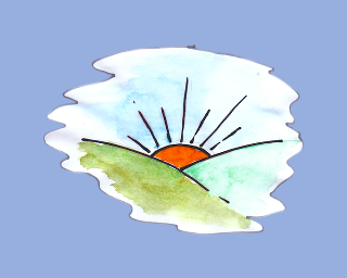 PBPhonics logo, showing a sunrise.