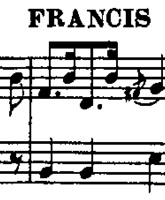 Fragment of sheet music in moderate quality