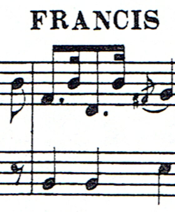 Fragment of sheet music in good quality with grey shading